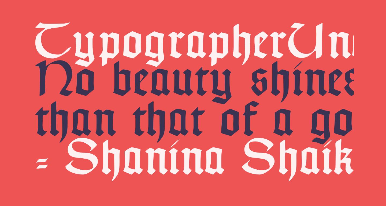 TypographerUncialgotisch