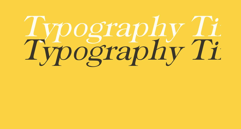 Typography Times Italic