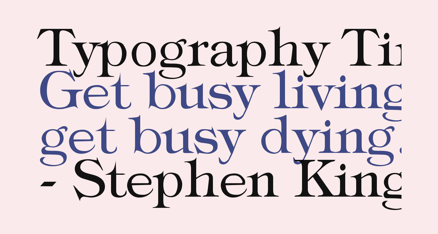 Typography Times