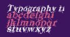 Typography ties Bold Italic
