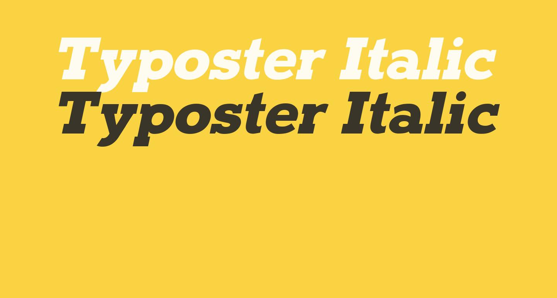 Typoster Italic