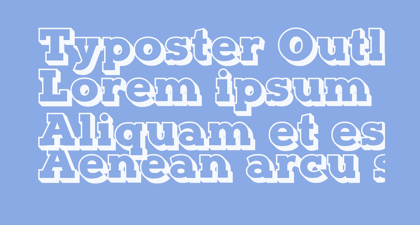 Typoster Outline