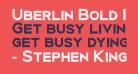 Uberlin Bold Italic