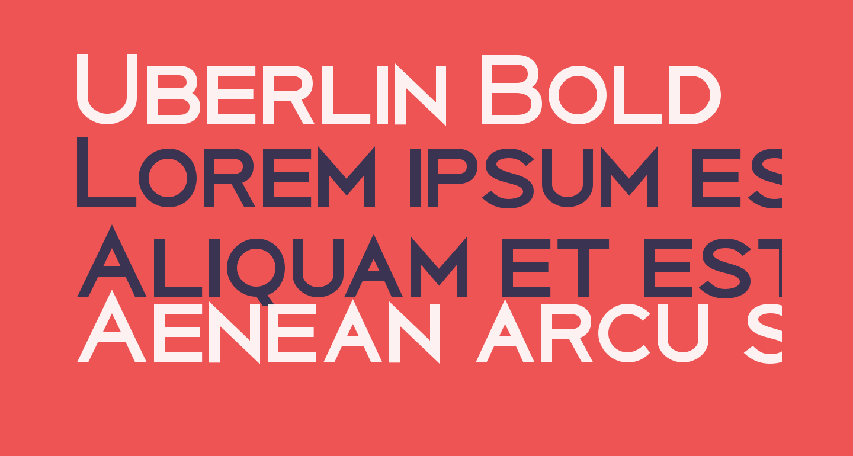 Uberlin Bold