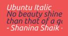 Ubuntu Italic