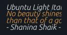 Ubuntu Light Italic