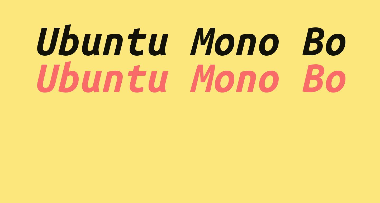 Ubuntu Mono Bold Italic