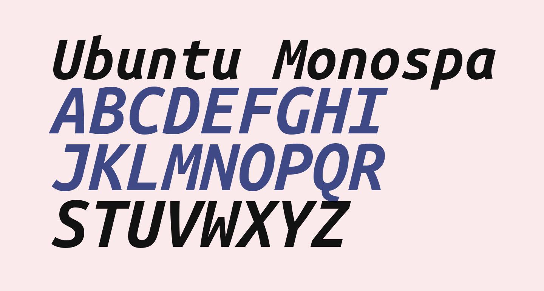 Ubuntu Monospaced Bold Italic