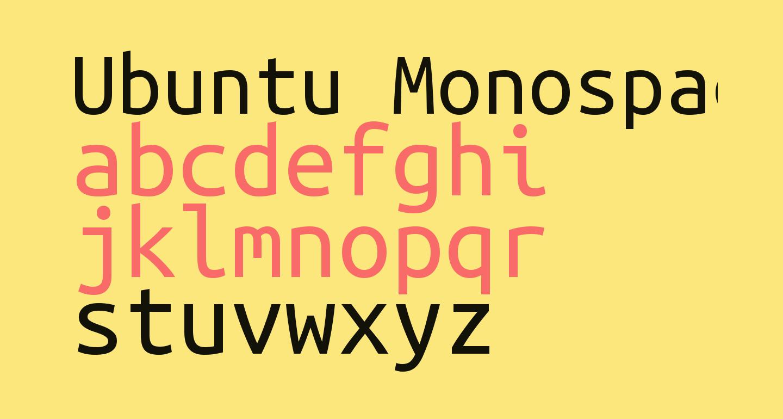 Ubuntu Monospaced
