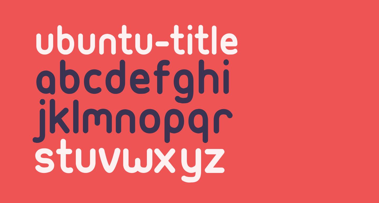 Ubuntu-Title