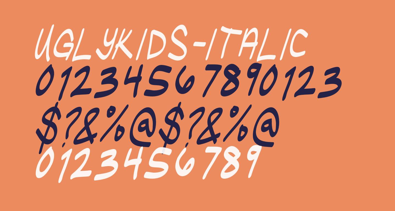 UglyKids-Italic