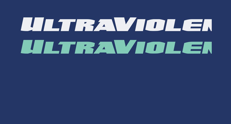 UltraViolent BB Italic