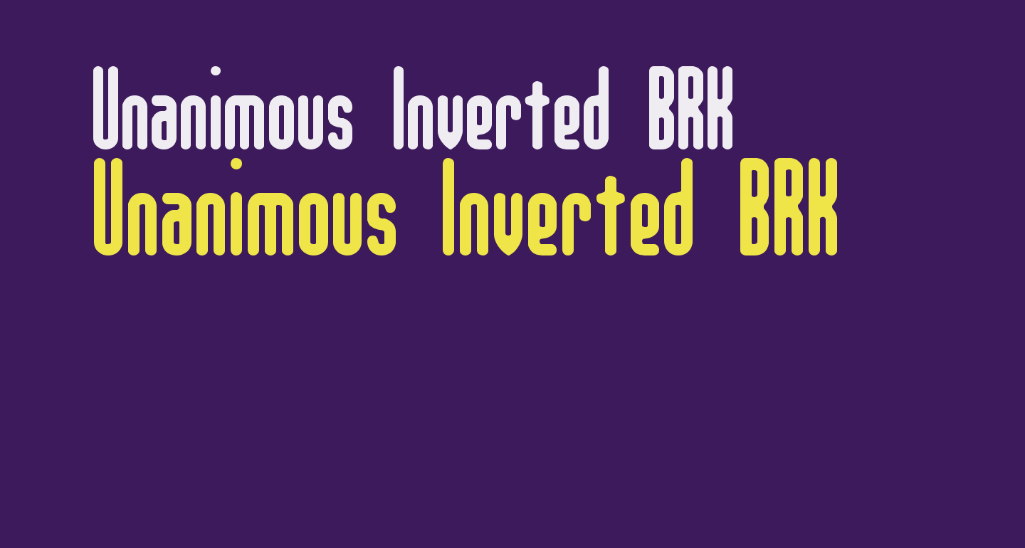 Unanimous Inverted BRK