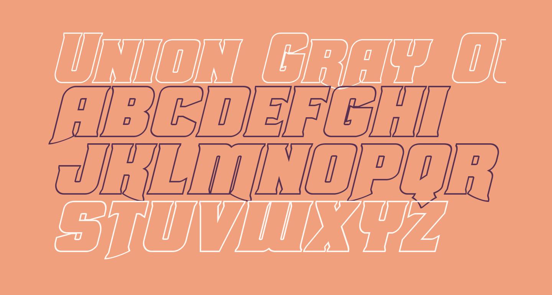 Union Gray Outline Italic