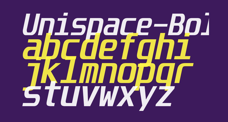Unispace-BoldItalic