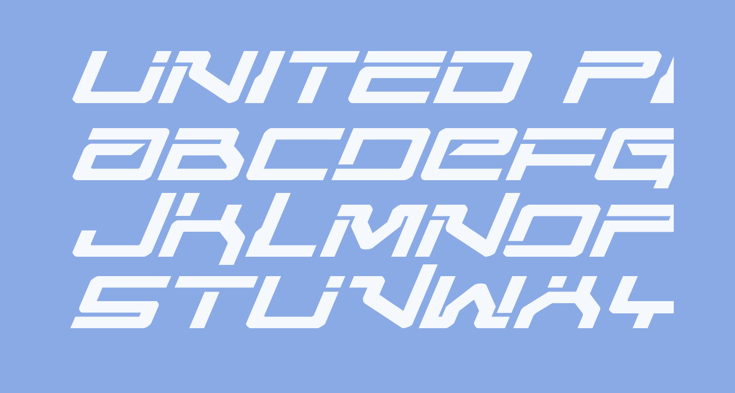 United Planets Expanded Italic