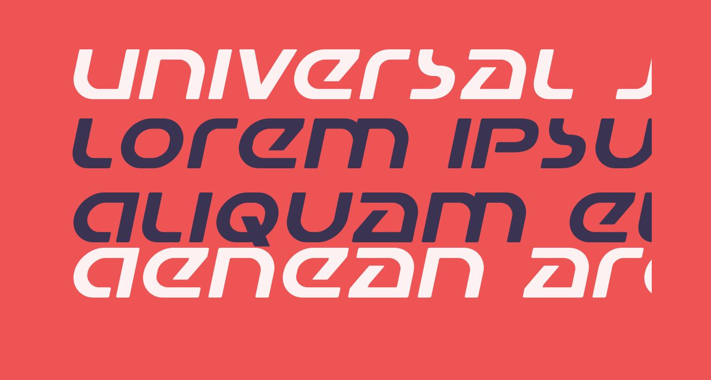Universal Jack Expanded Italic