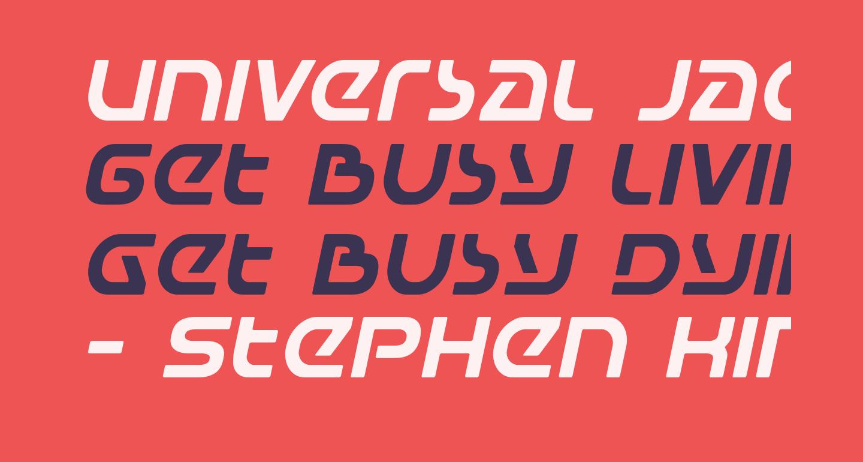 Universal Jack Italic