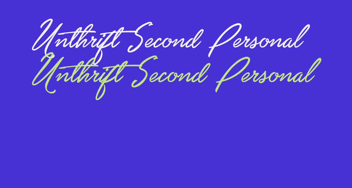 Unthrift Second Personal