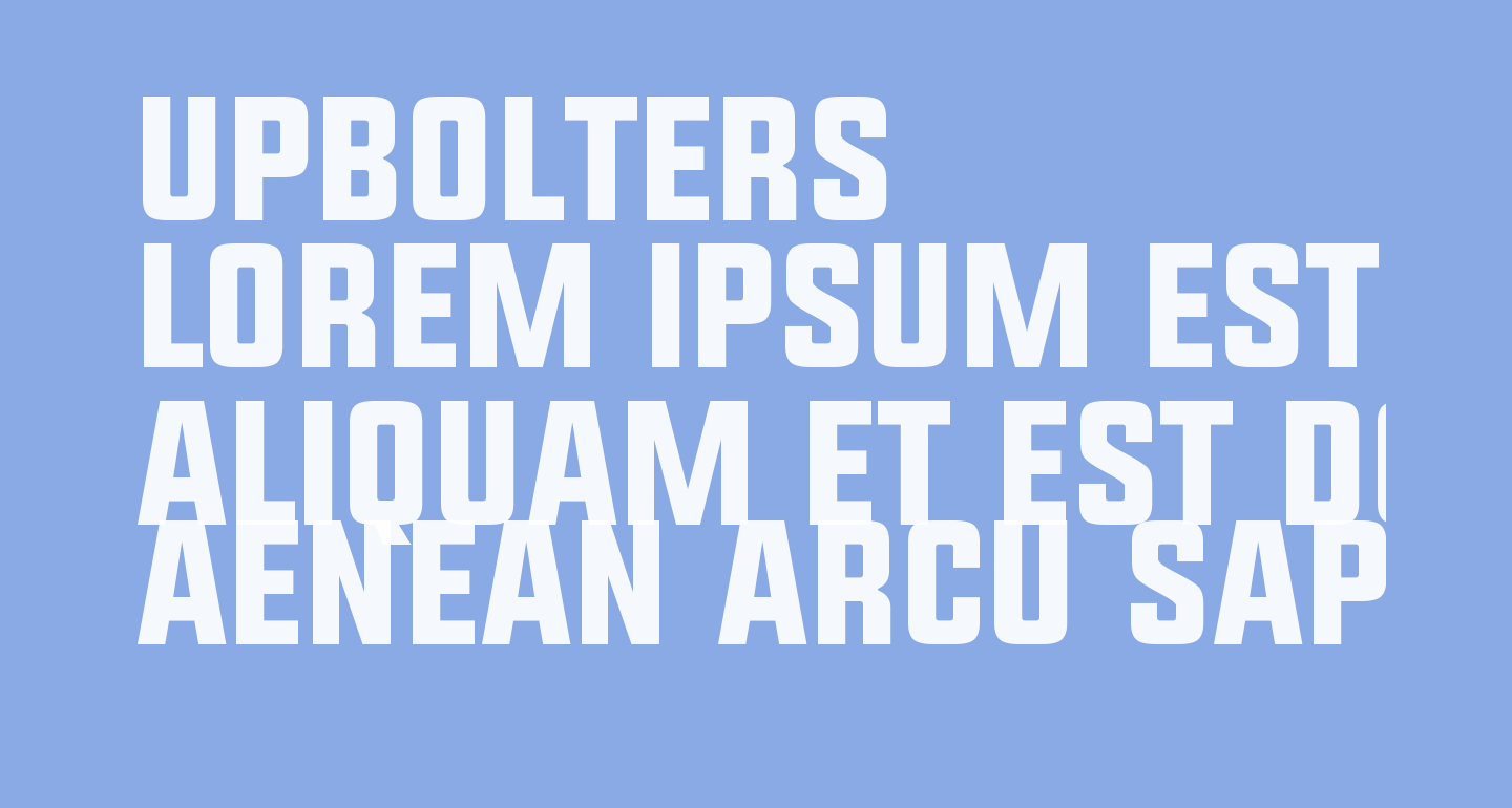 UPBOLTERS
