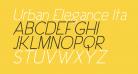Urban Elegance Italic