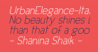 UrbanElegance-Italic