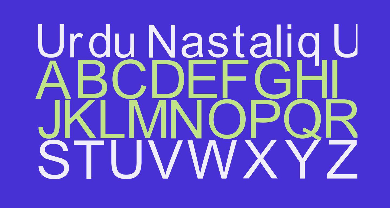 Urdu Nastaliq Unicode