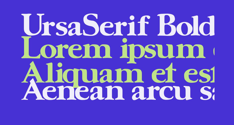 UrsaSerif Bold