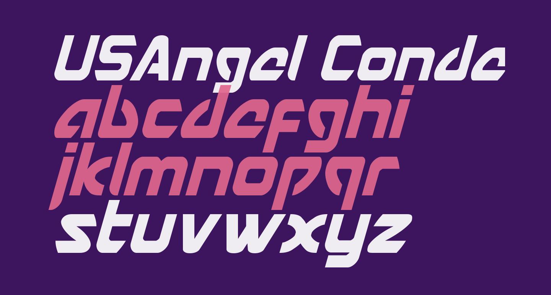 USAngel Condensed Italic