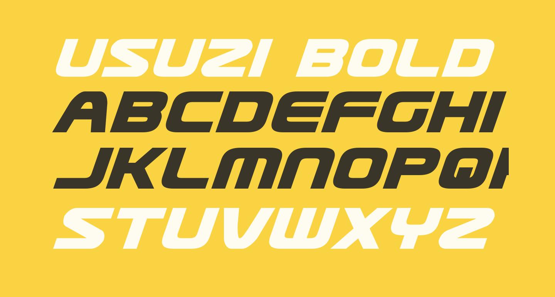 Usuzi Bold Italic