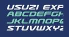 Usuzi Expanded Italic