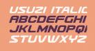 Usuzi Italic