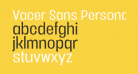 Vacer Sans Personal Book