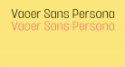 Vacer Sans Personal Light