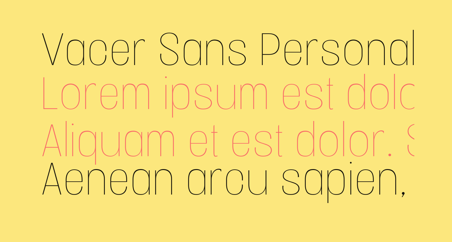 Vacer Sans Personal Thin
