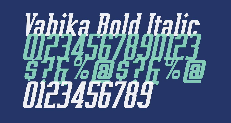 Vahika Bold Italic