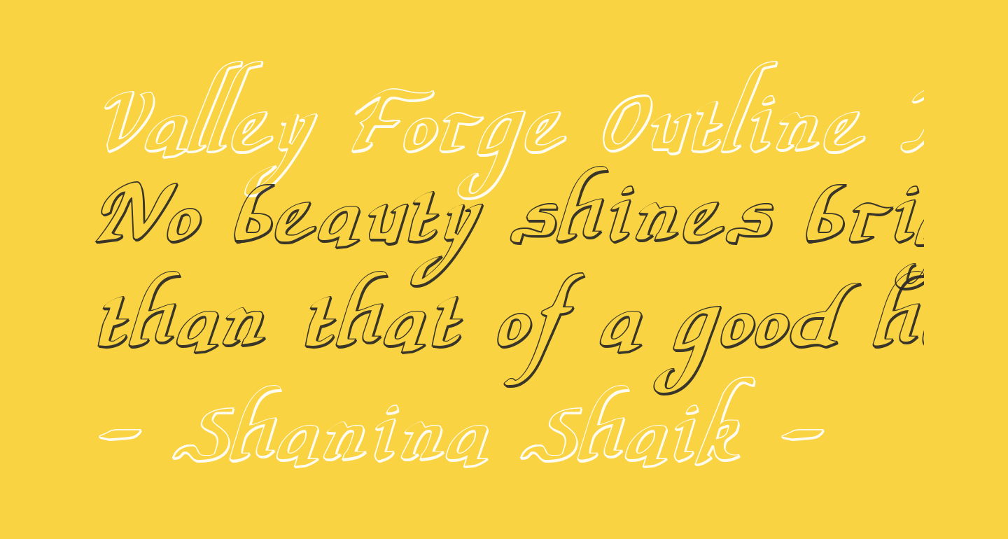 Valley Forge Outline Italic
