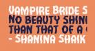 Vampire Bride Staggered