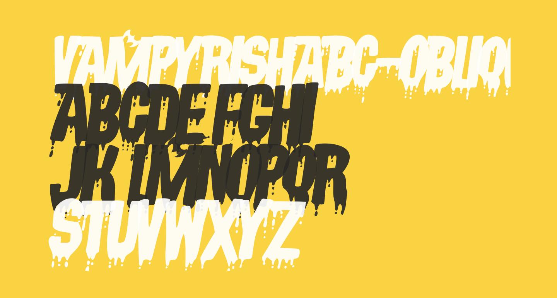 VampyrishABC-Oblique
