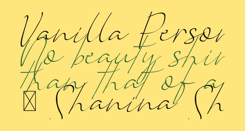 Vanilla Personal Light