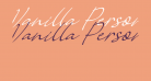 Vanilla Personal Slant