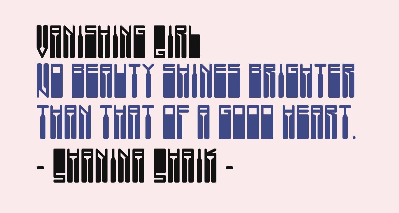 Vanishing Girl
