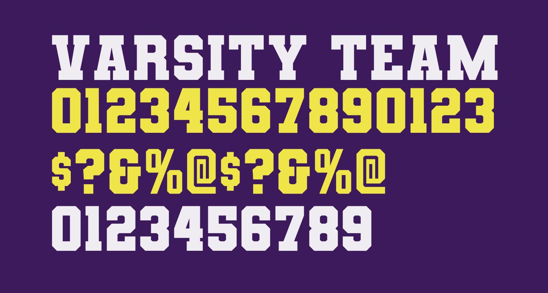 Varsity Team Bold