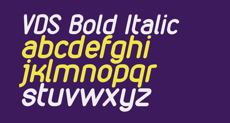 VDS Bold Italic