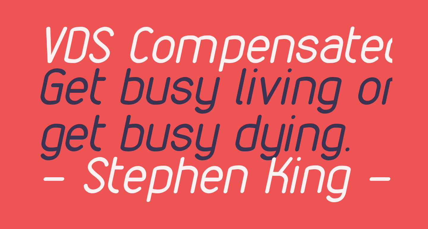 VDS Compensated Light Italic