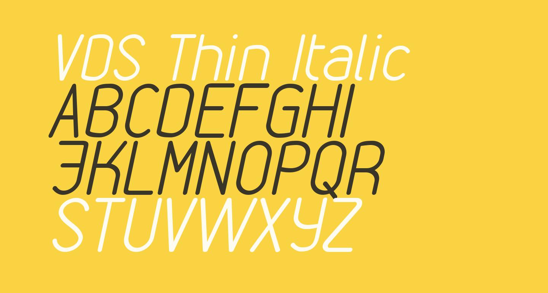 VDS Thin Italic