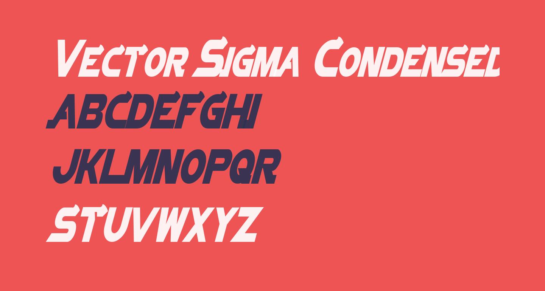 Vector Sigma Condensed Italic