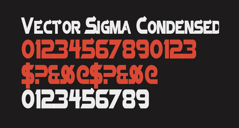 Vector Sigma Condensed