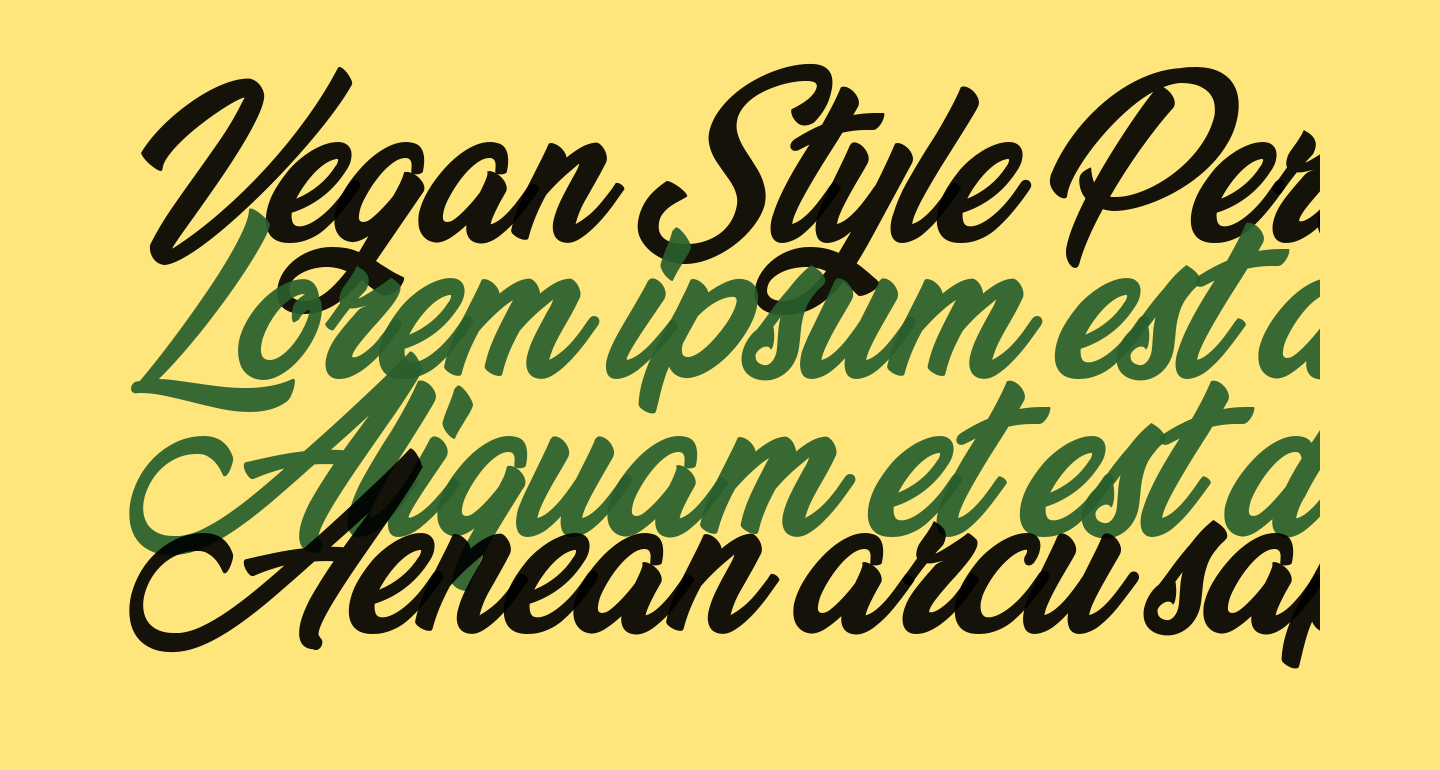 Vegan Style Personal Use