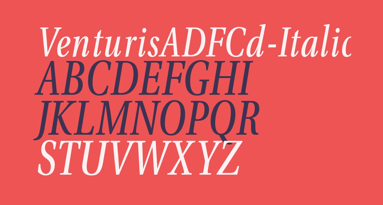 VenturisADFCd-Italic